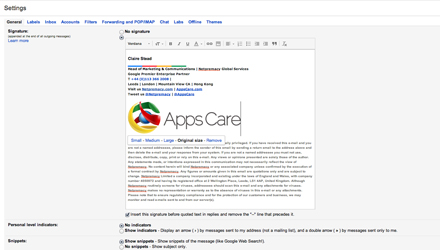 Google Apps Tips - Gmail signatures