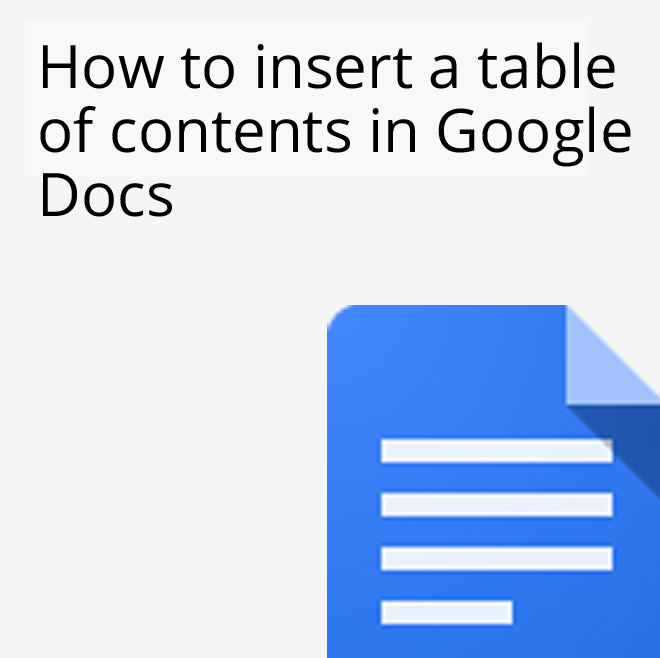 Appscare docs tips archives appscare for Table of contents google docs