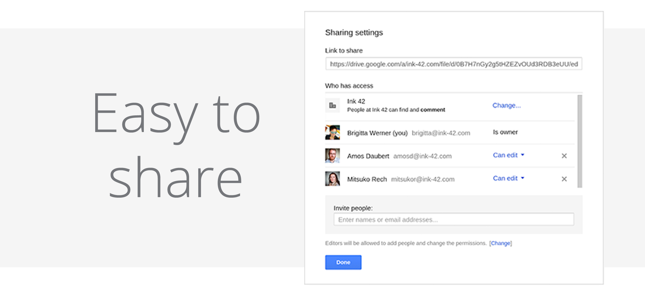 Google Drive for Work - Easy to share