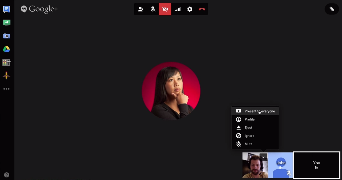 appscare how to select a presenter in google hangouts appscare