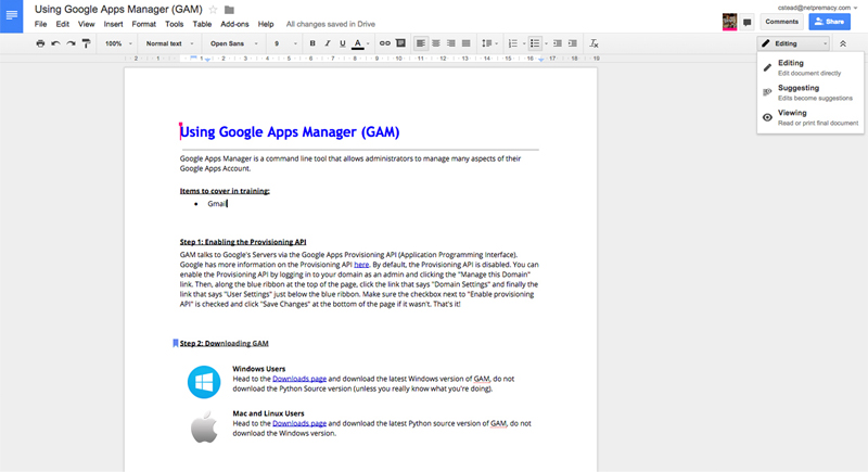 Google Apps Tips - Suggested edits in Google Docs