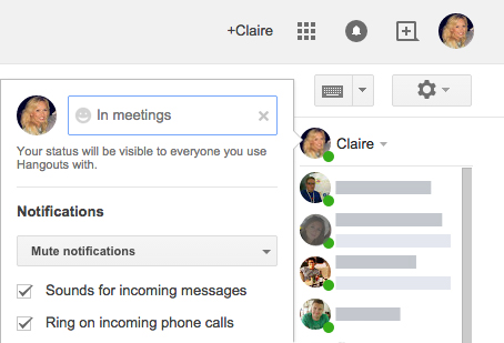 Google Apps Tips: Hangouts custom status