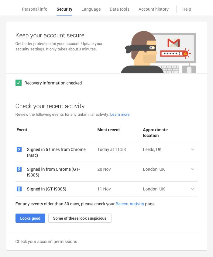 Google Security Updates