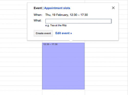 Google Apps Tips: Calendar Appointments