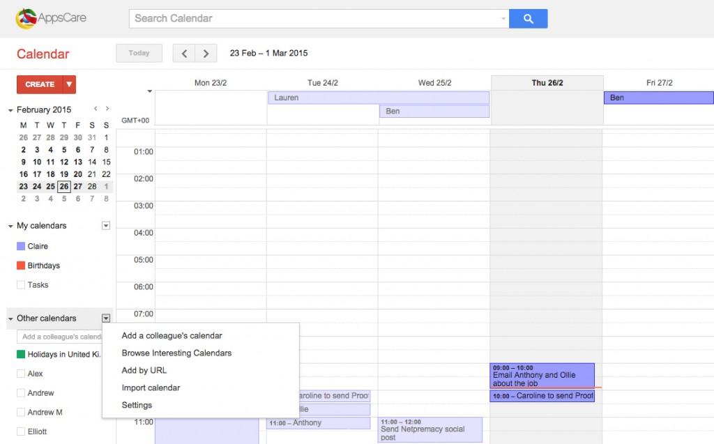 Google Apps Tips: Add calendars to Google Calendar