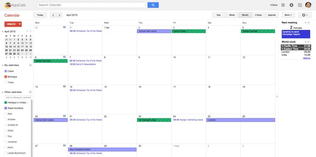 Google Apps Tips: Google Calendar
