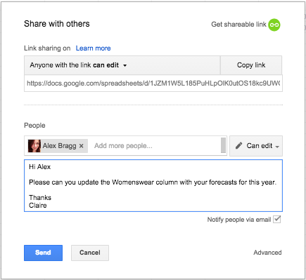 Google Apps Tips: Google Sheets Sharing