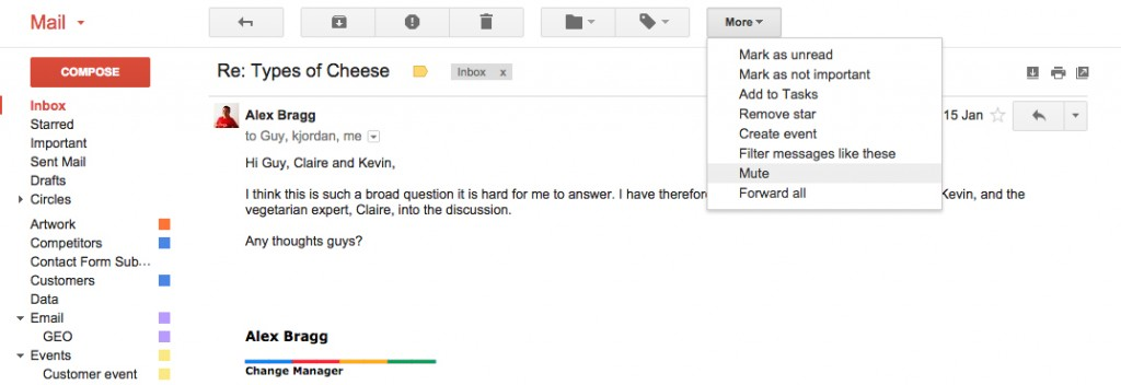 Google Apps Tips: Gmail Mute Conversation