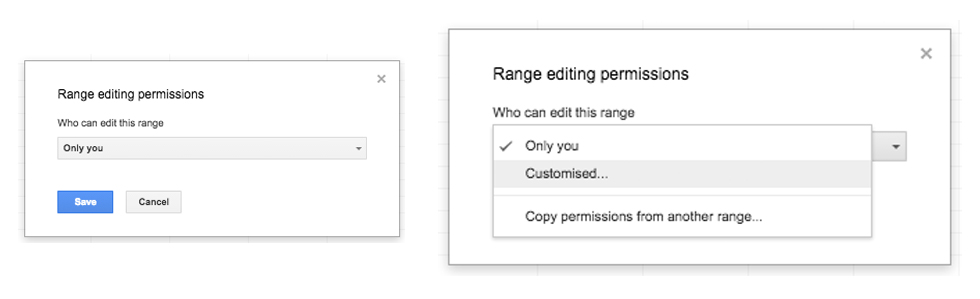 Google Apps Tips: Google Sheets Range Permissions
