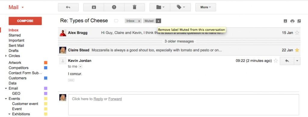 Google Apps Tips: Gmail Unmute Conversation