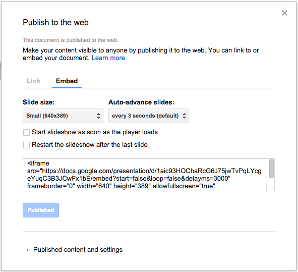 appscare how to embed google slides into a webpage appscare