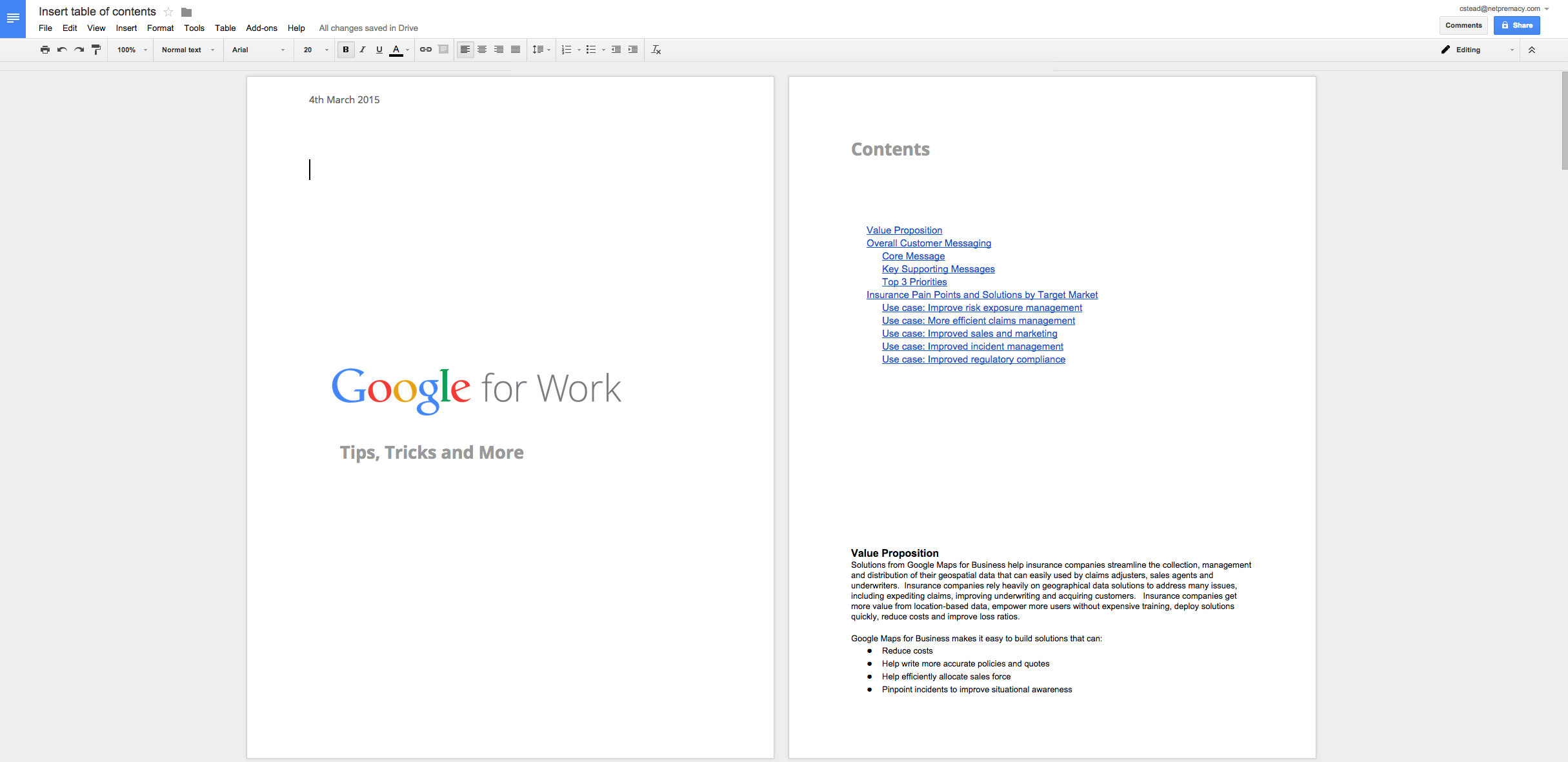 AppsCare Set A Unique Header Or Footer For Your Title Page In - Google docs cover page
