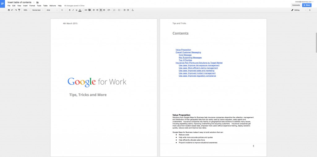 Google Apps Tips: Google Docs Front Page