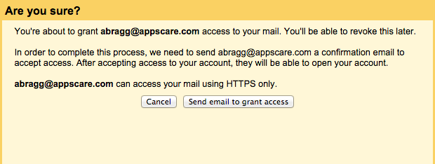 Google Apps Tips: Grant access to Gmail