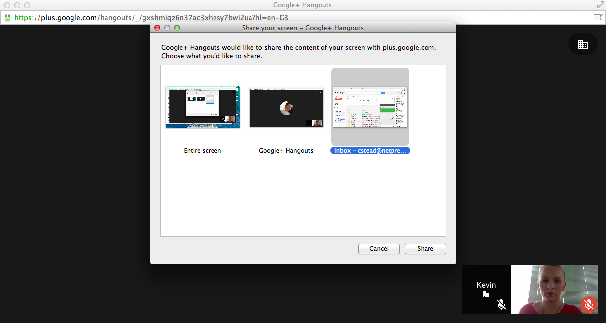 Appscare Using Full View Screen Sharing In Google Hangouts Appscare