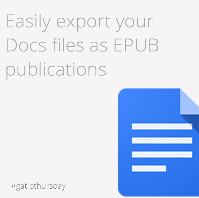 tip of the week - easily esport your docs file
